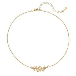 LC Horizontal Leaf Mini Statement Necklace